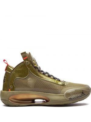 Красные кожаные кроссовки на каблуке Jordan