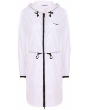 Куртка с капюшоном на резинке на молнии мятная с манжетами Dirk Bikkembergs