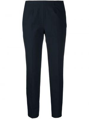 Хлопковые синие брюки дудочки с карманами Piazza Sempione