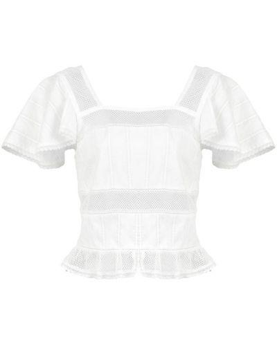 Блузка с рюшами белая Alexa Chung