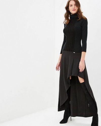 Платье осеннее черное Ricamare