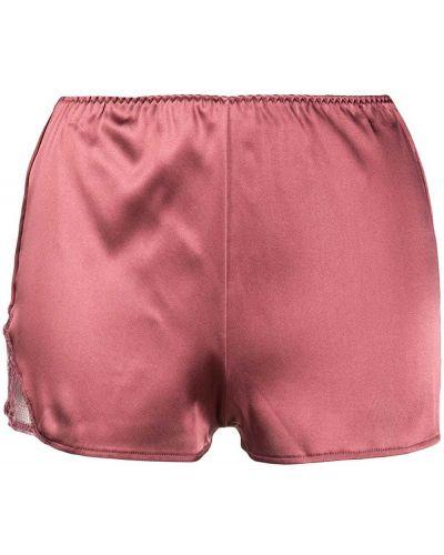 Сатиновые розовые шорты эластичные со вставками Fleur Of England