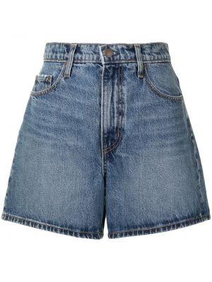 Хлопковые синие джинсовые шорты с заклепками Nobody Denim