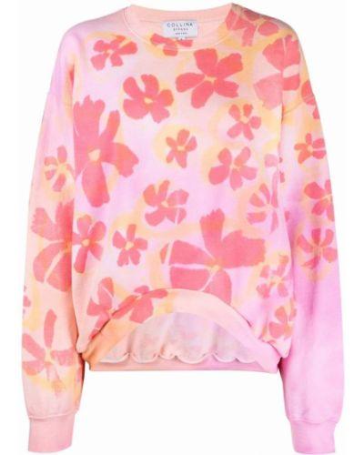 Bluza dresowa w kwiaty - różowa Collina Strada