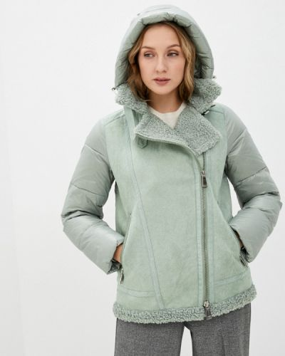Зеленая утепленная куртка Qwentiny
