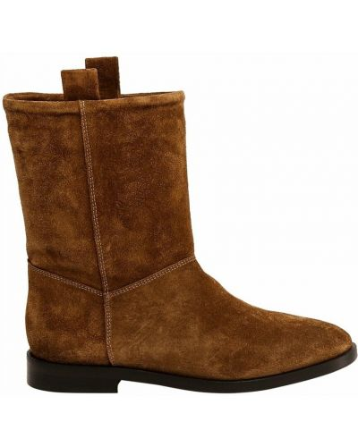 Brązowe ankle boots Closed
