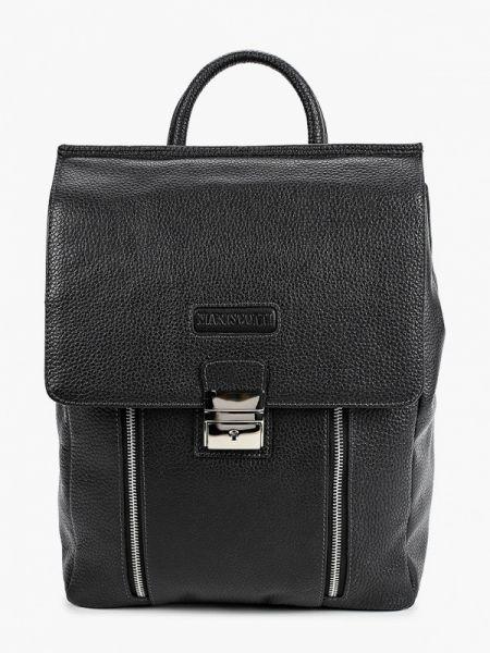 Кожаный черный рюкзак Franchesco Mariscotti
