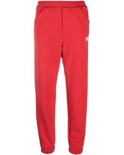 Спортивные брюки из полиэстера - красные Roseanna