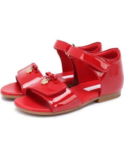 Босоножки красный с бантом Dolce & Gabbana