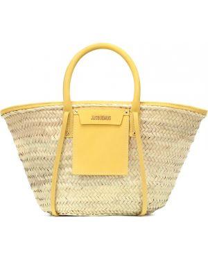 Желтая сумка-тоут с низкой посадкой Jacquemus