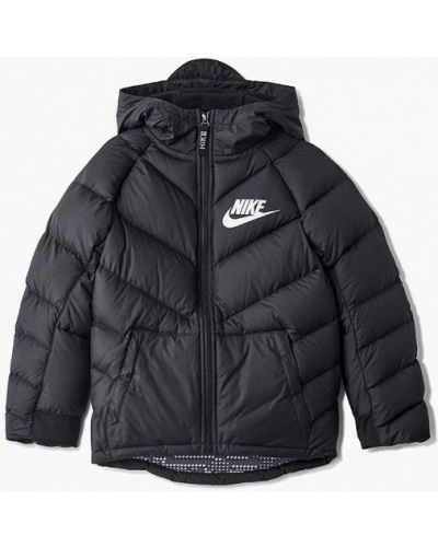 Куртка черная теплая Nike