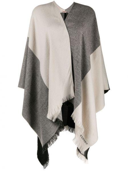 Акриловый черный шарф с опушкой Twin-set