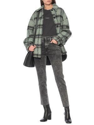 Хлопковые прямые черные джинсы Frame