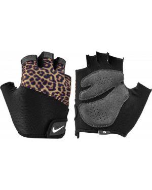Черные нейлоновые перчатки без пальцев для фитнеса Nike