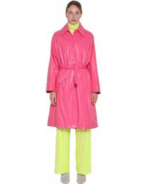 Полупальто с воротником - розовое Mm6 Maison Margiela