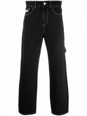 Czarne jeansy z paskiem Gcds