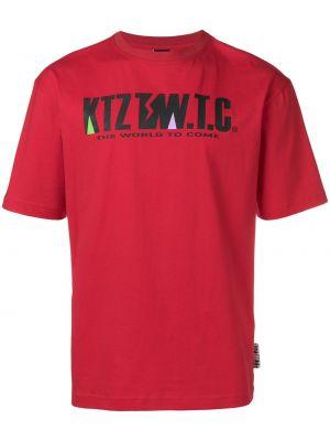 Футболка с принтом - красная Ktz