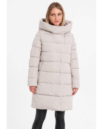 Бежевая утепленная куртка Lab Fashion