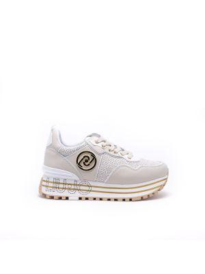 Buty sportowe skorzane - beżowe Liu Jo
