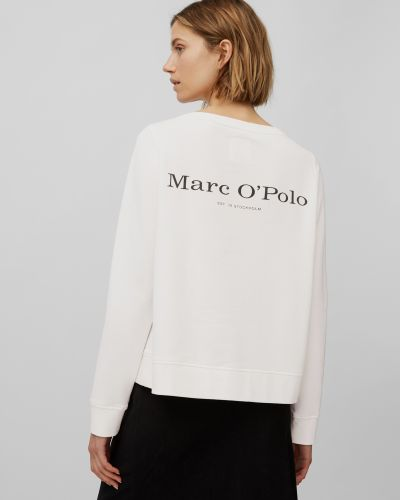 Белая кофта с вырезом Marc O'polo