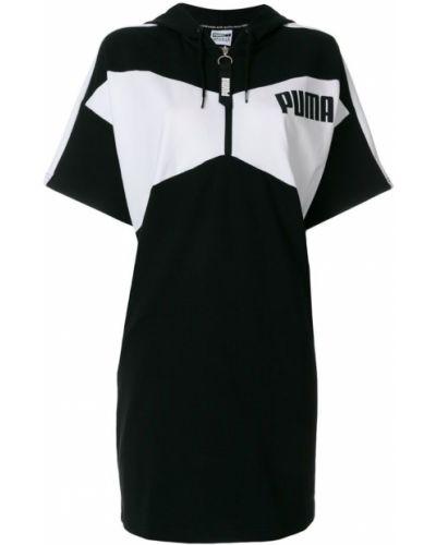 Платье мини прямое с капюшоном платье-толстовка Puma