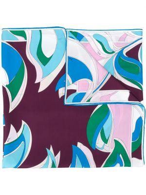 Szalik z nadrukiem prążkowany Emilio Pucci