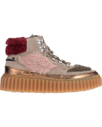 Ботинки на платформе кожаные осенние Voile Blanche
