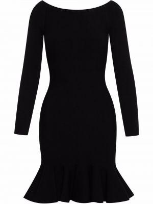 Платье макси с длинными рукавами - черное Oscar De La Renta