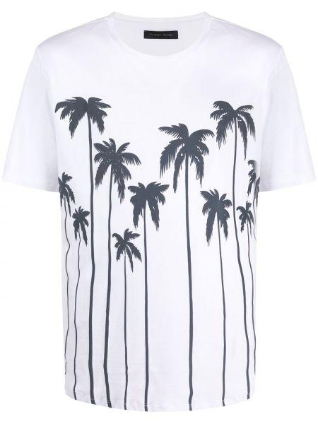 Biały t-shirt bawełniany z printem Christian Pellizzari