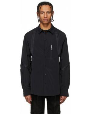 Черная рубашка с воротником стрейч 99% Is