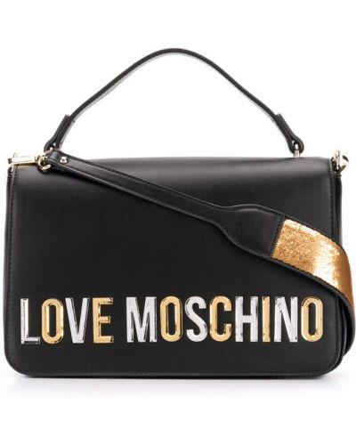 Сумка через плечо маленькая черная Love Moschino