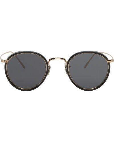 Черные солнцезащитные очки круглые металлические Eyevan 7285
