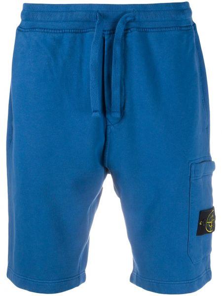 Bawełna bawełna niebieski szorty cargo z kieszeniami Stone Island