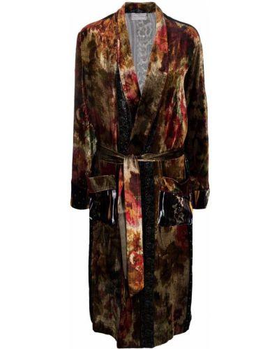 Коричневое пальто из вискозы Pierre-louis Mascia