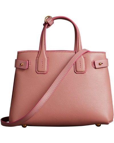 Кожаная сумка розовый маленькая Burberry