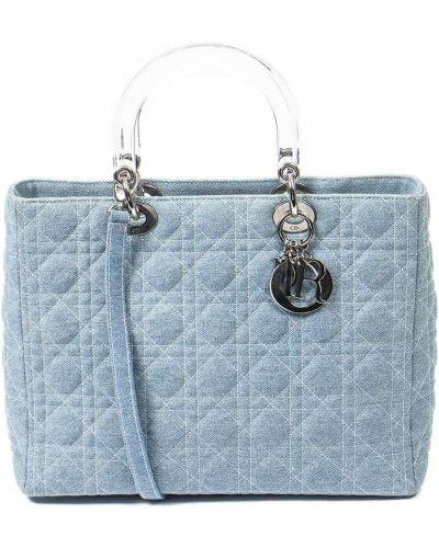 Niebieskie jeansy srebrne Christian Dior