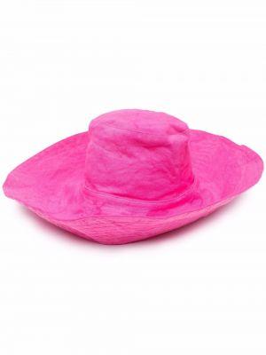 Ватная хлопковая розовая шапка Forte Forte