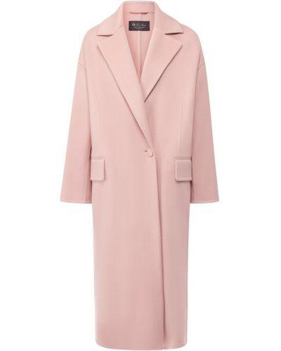 Пальто прямое с отложным воротником Loro Piana
