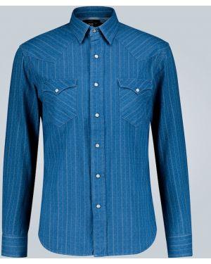 Рубашка с воротником с заплатками на пуговицах Rrl