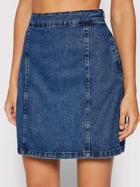 Niebieska spódnica jeansowa Noisy May