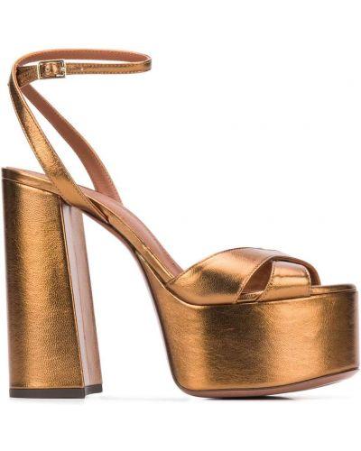 С ремешком желтые туфли-лодочки на платформе L'autre Chose