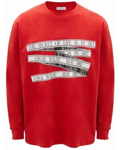 Czerwona bluza dresowa Jw Anderson