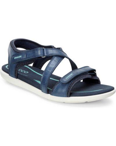 Спортивные сандалии на каблуке синий Ecco