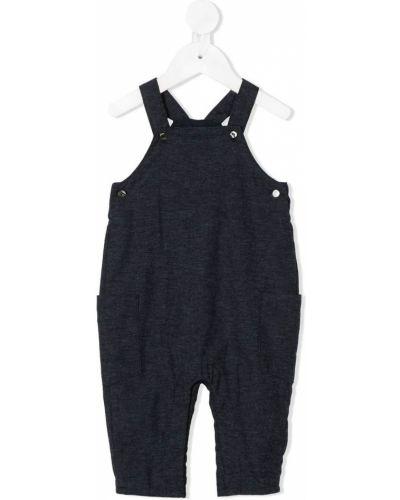 Хлопковые прямые синие прямые брюки Knot