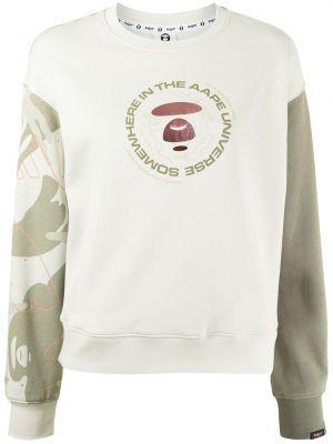 Zielona bluza z nadrukiem z printem Aape By A Bathing Ape