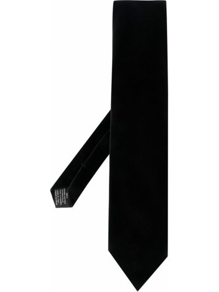 Хлопковый синий галстук с декоративной отделкой Tom Ford