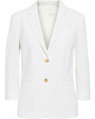 Шерстяной бежевый пиджак с карманами The Row