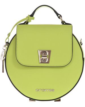 Кожаная сумка - зеленая Cromia
