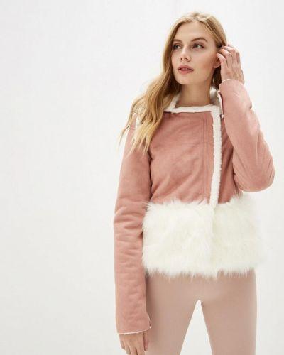 Розовая дубленка Gepur