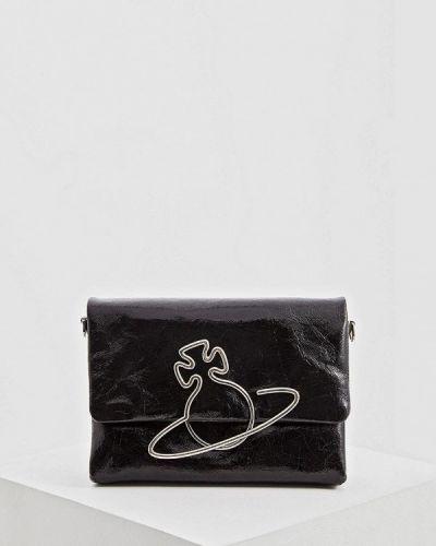 Кожаный сумка через плечо черный Vivienne Westwood